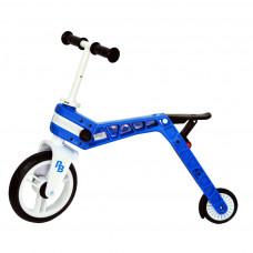 Беговел-самокат Real Baby синий  (Бесплатная доставка)