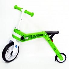 Беговел-самокат Real Baby, зеленый  (Бесплатная доставка)