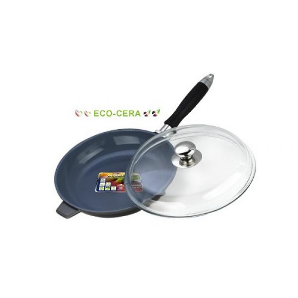 Сковорода алюминиевая с крышкой (28см) Vitesse VS-2273