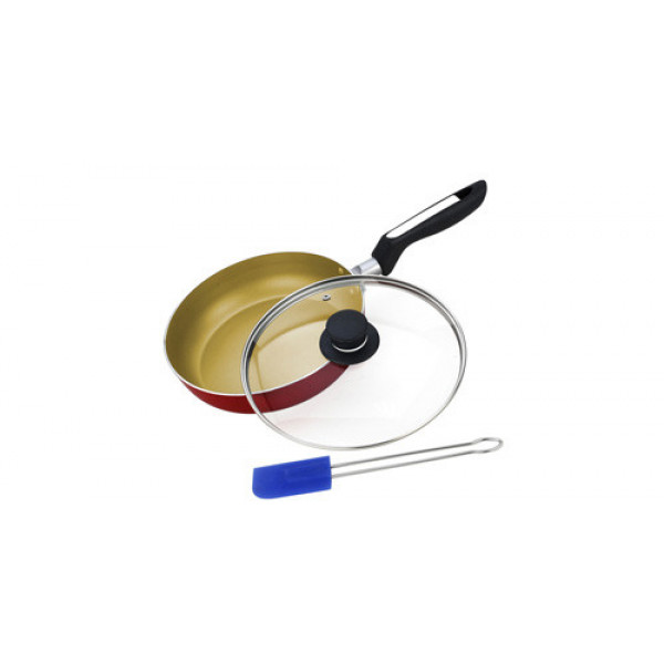 Сковорода алюминиевая с крышкой и лопаткой (26см) Vitesse VS-2206