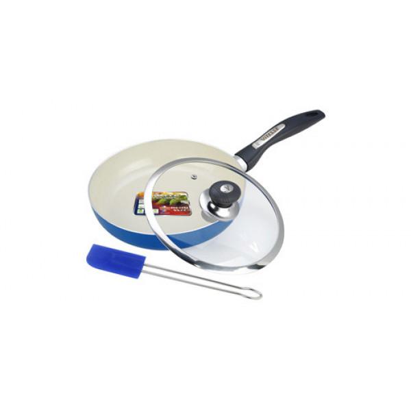 Сковорода алюминиевая с крышкой и лопаткой (24см) Vitesse VS-2201