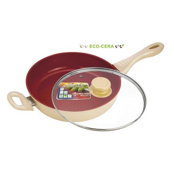 Сковорода алюминиевая с крышкой (24см) Vitesse VS-2260