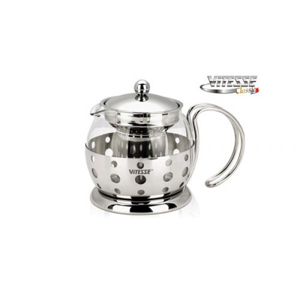 Чайник заварочный с фильтром (0.7л) Vitesse VS-8318