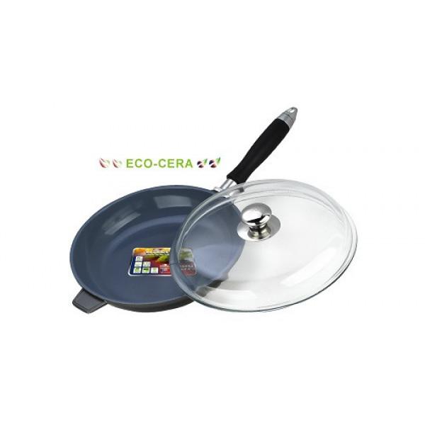 Сковорода алюминиевая с крышкой (24см) Vitesse VS-2271