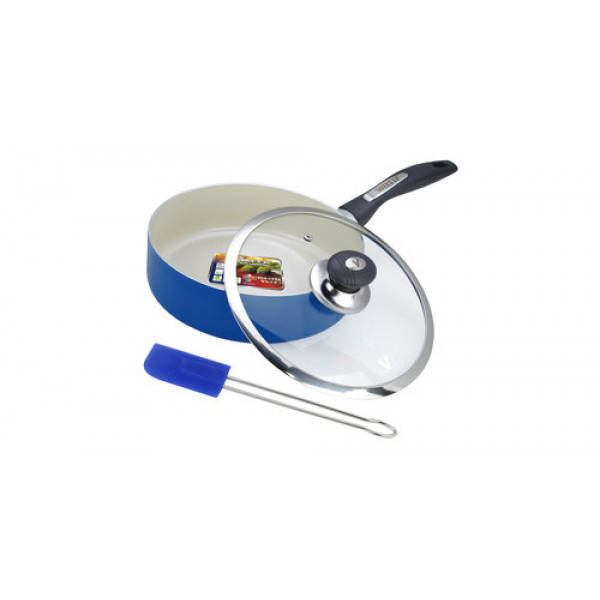 Сковорода алюминиевая с крышкой и лопаткой (26см) Vitesse VS-2203