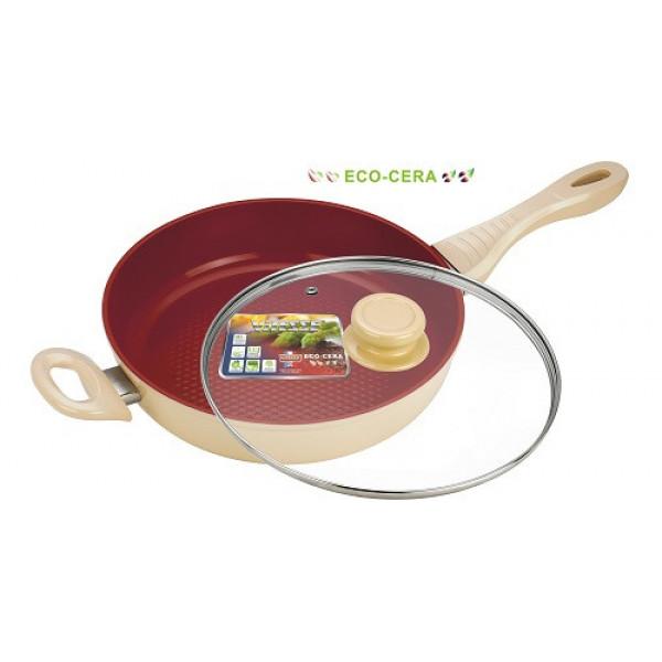 Сковорода алюминиевая с крышкой (28см) Vitesse VS-2262