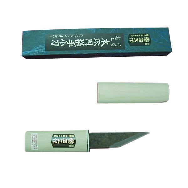 Нож японский туристический 90 мм в деревянном футляре SHOUZOU IKEUCHI, HANAKUMAGAWA (4580149743441)