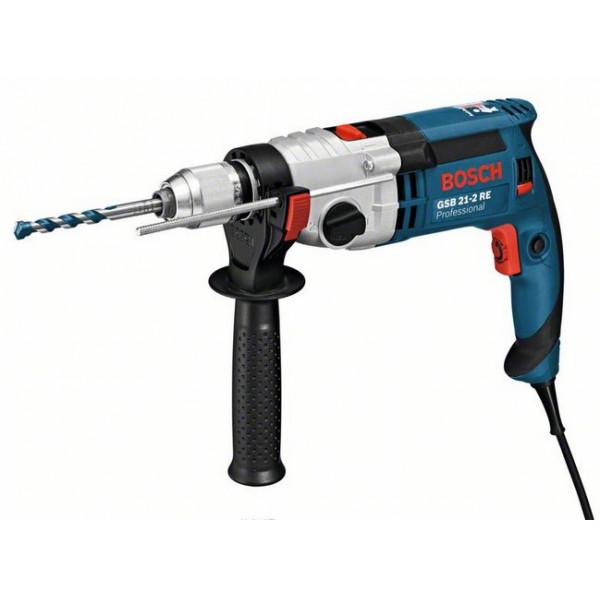 Дрель ударная Bosch GSB 21-2 RE (быстрозажимной патрон) (060119C500)