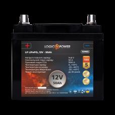 Аккумулятор для автомобиля литиевый LP LiFePO4 12V - 50 Ah (+ слева, прямая полярность) пластик